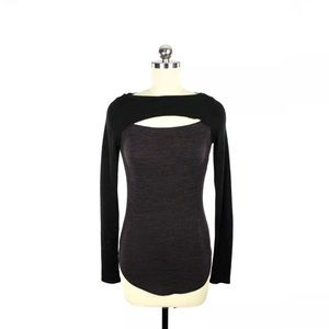 Aritzia Wilfred Free Ruby Reposa Knit Cut Out Top